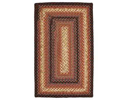 Homespice Decor Cotton Braided Plumberry Beige 2' x 3' Rectangualr Area Rug