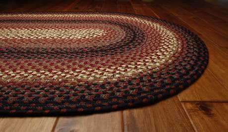 Homespice Decor Cotton Braided Plumberry Red Area Rug