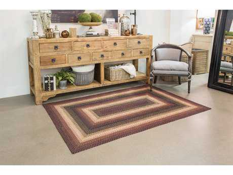 Homespice Decor Jute Braided Prescott Black Rectangular Area Rug