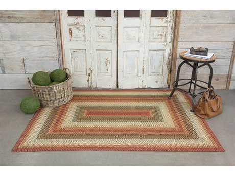 Homespice Decor Ultra Wool Braided Preston Red Rectangular Area Rug