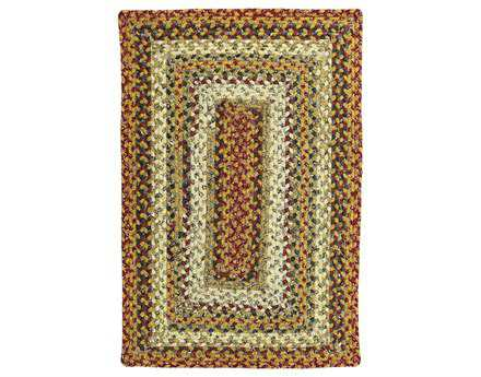 Homespice Decor Cotton Braided Pumpkin Pie Yellow Area Rug