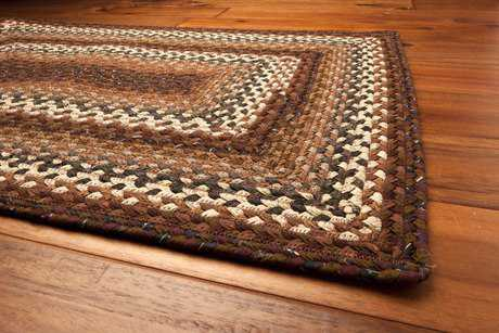 Homespice Decor Cotton Braided Rocky Road Brown Area Rug