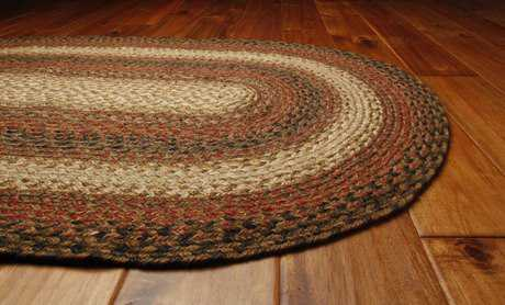 Homespice Decor Jute Braided Russet Red Area Rug