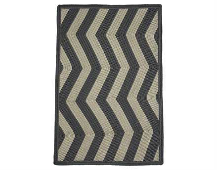 Homespice Decor Ultra Durable Chevron Braided Sable Ivory Rectangular Beige Area Rug