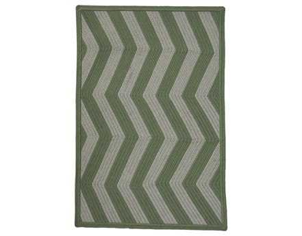 Homespice Decor Ultra Durable Chevron Braided Sage Ivory Rectangular Beige Area Rug