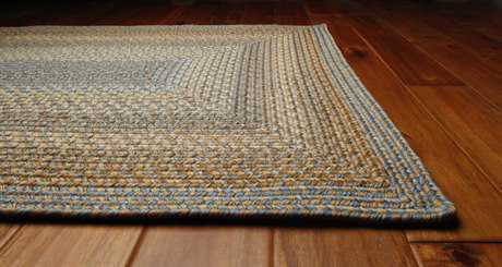 Homespice Decor Ultra Durable Braided Rectangular Teal Area Rug