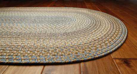 Homespice Decor Ultra Durable Braided Oval Teal Area Rug