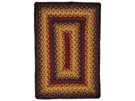 Homespice Decor Jute Braided Sedona Red Rectangular Area Rug