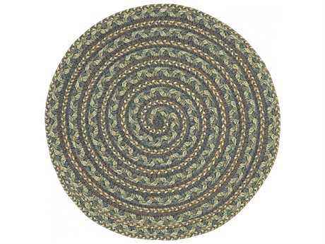 Homespice Decor Ultra Durable Swirl Braided Swirl Cappuccino Brown 3' Wide Round Area Rug
