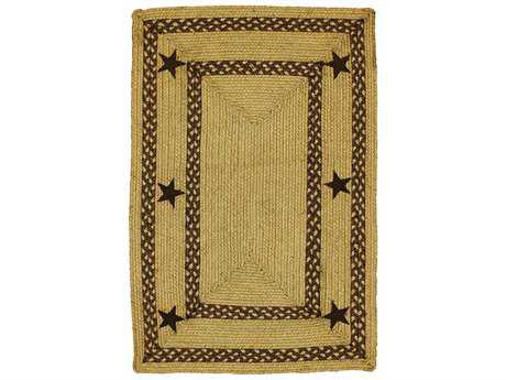 Homespice Decor Jute Braided Texas Brown Beige Rectangular Area Rug