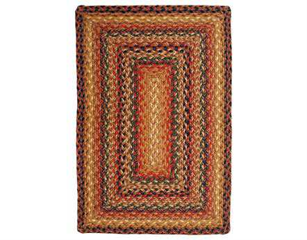 Homespice Decor Jute Braided Timber Trail Red Area Rug