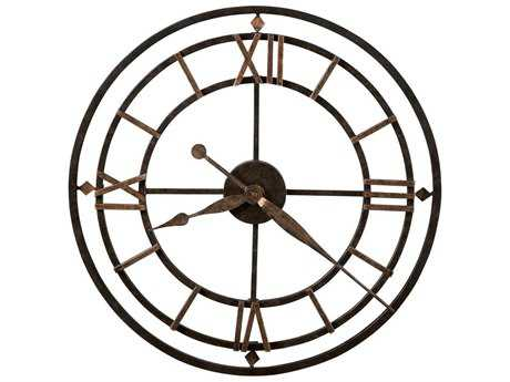 Howard Miller York Station Antique Gold Oversized Gallery Wall Clock