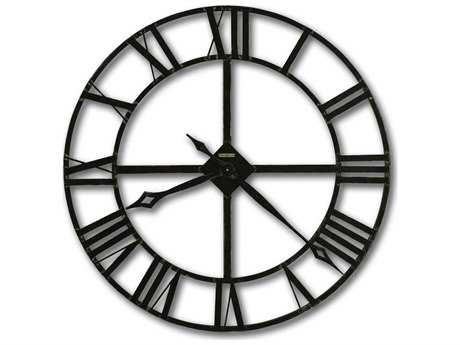 Howard Miller Lacy 32'' Round Dark Charcoal Gray Oversized Gallery Wall Clock