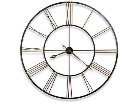 Howard Miller Postema Aged Black Oversized Gallery Wall Clock