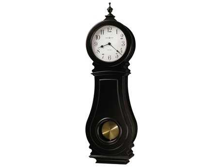 Howard Miller Dorchester Worn Black Chiming Wall Clock