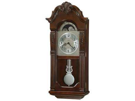 Howard Miller Norristown Rustic Cherry Chiming Wall Clock