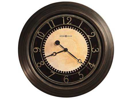 Howard Miller Chadwick Antique Brushed Brass Oversized Gallery Wall Clock