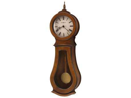 Howard Miller Cleo Wall Chestnut Chiming Wall Clock