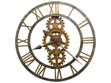 Howard Miller Crosby Antique Brass Oversized Gallery Wall Clock