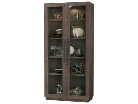 Howard Miller Morrissey Aged Java Curio Cabinet