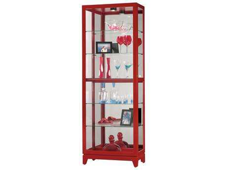 Howard Miller Luke II High Gloss Red Curio Cabinet