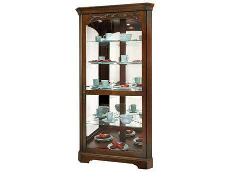 Howard Miller Tessa Hampton Cherry Corner Curio Cabinet