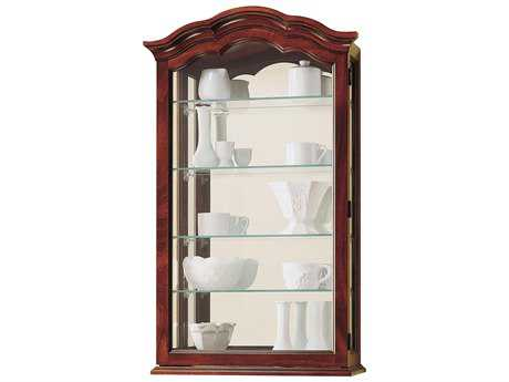 Howard Miller Vancouver Windsor Cherry Wall Curio Cabinet