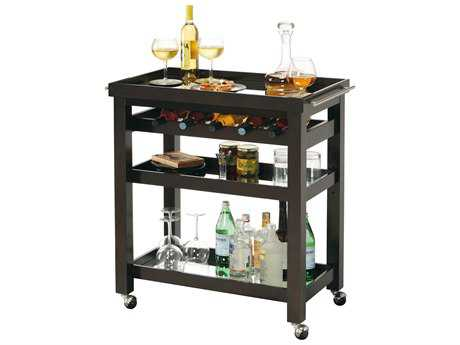 Howard Miller Pienza Black Coffee Wine & Bar Cart