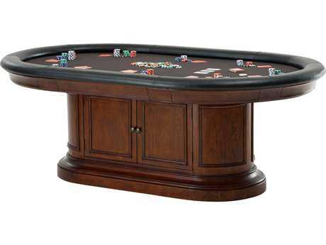Howard Miller Bonavista Rustic Cherry 86'' x 54'' Oval Game Table