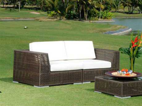Hospitality Rattan Outdoor Soho Wicker Deep Seating Loveseat
