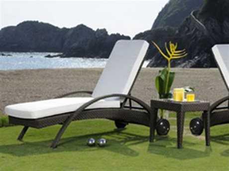 Hospitality Rattan Outdoor Soho Wicker Three Piece Chaise Lounge Set