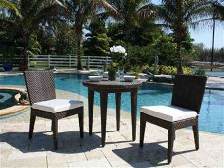 Hospitality Rattan Outdoor Soho Wicker Three Piece Bistro Set