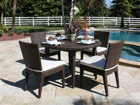 Hospitality Rattan Outdoor Soho Wicker Five Piece Bistro Set