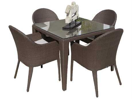 Hospitality Rattan Outdoor Kenya Aluminum Wicker 5PC Dining Group