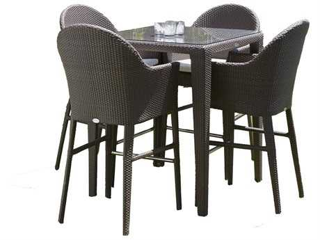 Hospitality Rattan Outdoor Kenya Aluminum Wicker 5PC Pub Set