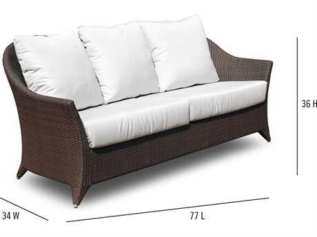 Hospitality Rattan Outdoor Kenya Aluminum Wicker Sofa with Cushion