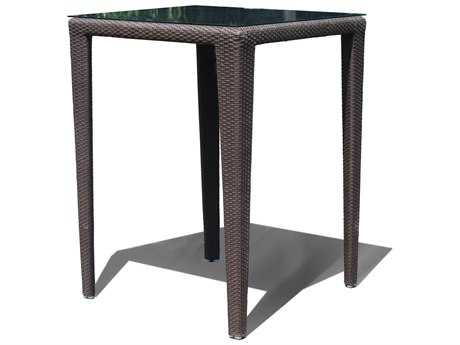 Hospitality Rattan Outdoor Kenya Aluminum Wicker 35 Square Bar Table