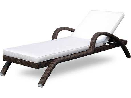 Hospitality Rattan Outdoor Kenya Aluminum Wicker Chaise Lounger