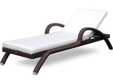Hospitality Rattan Outdoor Kenya Aluminum Wicker Chaise Lounger