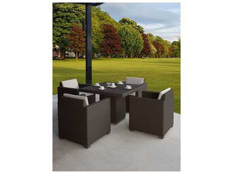 Hospitality Rattan Outdoor Sydney Aluminum Wicker 5 PC Dining Group