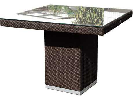 Hospitality Rattan Outdoor Sydney Aluminum Wicker 39 Square Dining Table