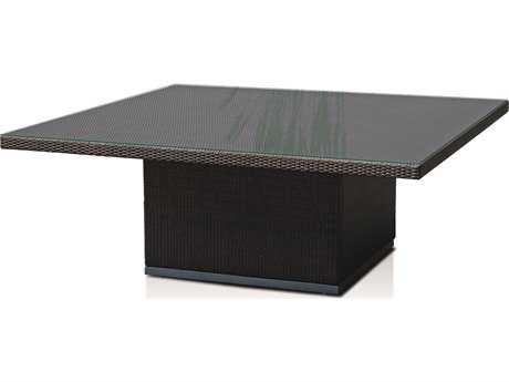 Hospitality Rattan Outdoor Sydney Aluminum Wicker 71 Large Square Dining Table