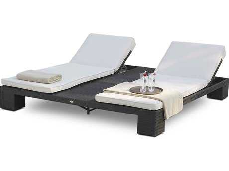 Hospitality Rattan Outdoor Sydney Aluminum Wicker Chaise Double Lounger
