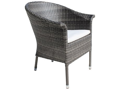 Hospitality Rattan Outdoor Ultra Grey Woven Dining Arm Chair
