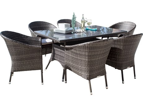 Hospitality Rattan Outdoor Ultra Wicker Dining Set