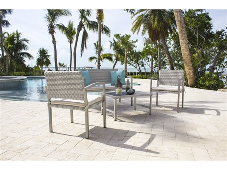 Hospitality Rattan Outdoor Athens Wicker Cushion Lounge Set HP8953213WW4PC