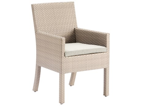 Hospitality Rattan Outdoor Rubix Kubu Wash Wicker Stackable Dining Arm Chair