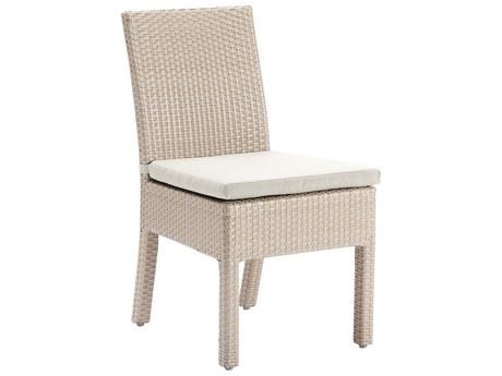 Hospitality Rattan Outdoor Rubix Kubu Wash Wicker Stackable Side Chair PatioLiving