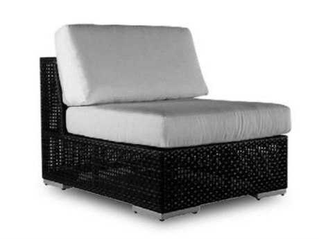 Hospitality Rattan Outdoor Soho Wicker Armless Lounge Chair