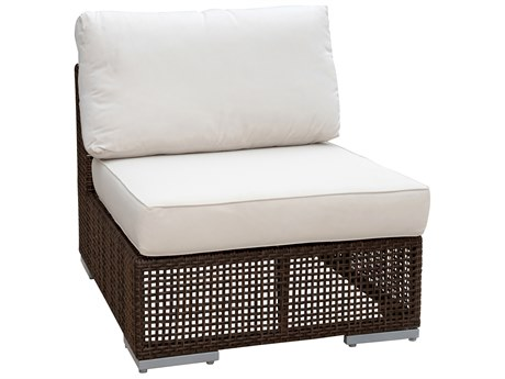 Hospitality Rattan Outdoor Soho Wicker Armless Lounge Chair HP9031321JBPA
